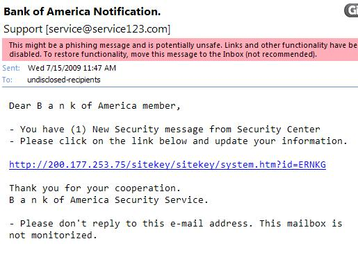 An Example of a Really Poor Phishing Attempt