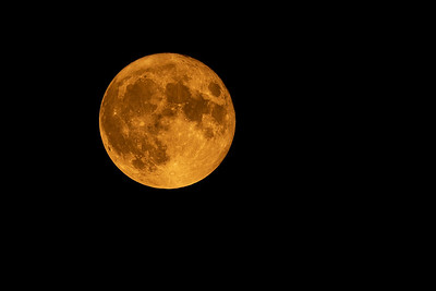 Orange full moon