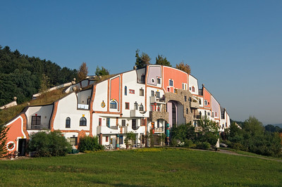 Steinhaus (Stone House) at Bad Blumau Hot Springs Hotel Village Designed by Architect Friedensreich Hundertwasser, Styria, Austria