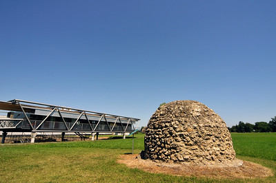 Modern Architecture of Museum Pavilion at Flavia Solva Roman Archaeological Site in Wagna near Graz, Styria, Austria