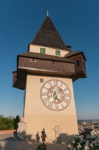 Uhrturm (Clock Tower) on Grazer Schlossberg Hill in Graz, Styria, Austria