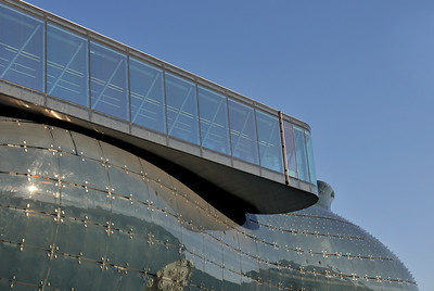 Viewing Platform and Facade of Kunsthaus in Graz, Austria