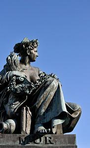 Figure Representing River Mur, Graz (Austria)