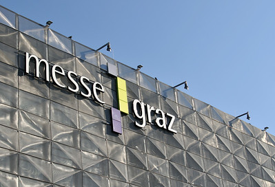 Metallic Facade of Hall A of Graz Trade Fairs, Austria