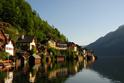 Hallstatt Village and Lake, Upper Austria