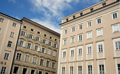 Architecture of Altstadt (Old Town), Salzburg, Austria