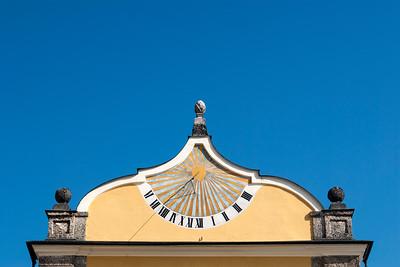 Sundial at Hellbrunn Palace in Salzburg, Austria