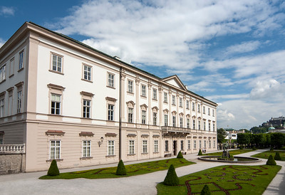 Baroque Mirabell Palace (Schloss Mirabell) and Gardens in Salzburg, Austria