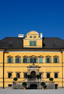 Main Building of Hellbrunn Palace in Salzburg, Austria