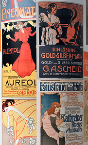 Secession Posters at MuseumsQuartier in Vienna, Austria