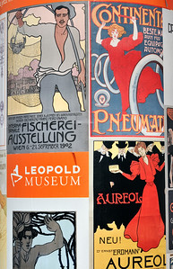 Secession (Art Nouveau) Poster Displays at MuseumsQuartier in Vienna (Wien), Austria
