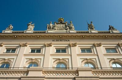 Facade of Building of Albertina Museum, Vienna (Wien), Austria