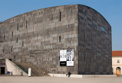 Building of MUMOK (Museum Moderner Kunst or Museum of Modern Art) at MuseumsQuartier in Vienna (Wien), Austria