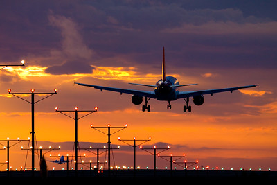 Evening arrival / LAX airport, USA