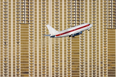 Big hotels / Las Vegas airport, USA