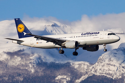 Winter flight / Geneva airport, Switzerland