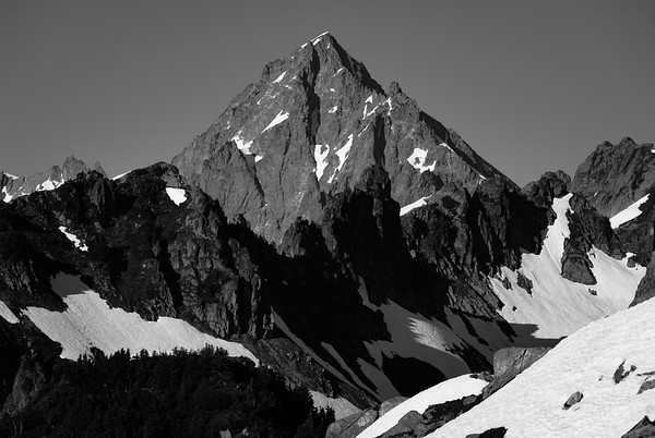 The view east from Hidden Lake Peak, North Cascades, Washington