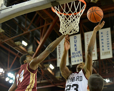 November 28, 2013: Harvard Crimson guard/forward Wesley Saunders (23) puts up a layup in a first round game at the 2013 Great Alaska Shootout between Harvard and Denver.  Harvard defeated Denver 68-60. Harvard defeated Denver 68-60.