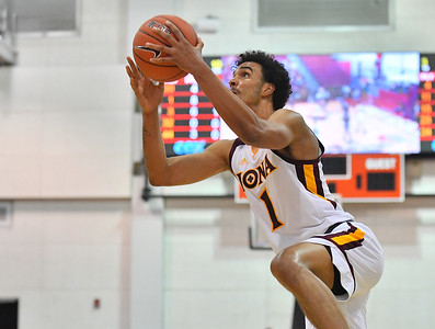LAS VEGAS, NV - NOVEMBER 19:  Isaiah Still #1 of the Iona Gaels drives to the basket against the Long Beach State 49ers during their middleweight bracket semifinal game of the MGM Resorts Main Event at Cox Pavilion in Las Vegas, Nevada.  (Photo by Sam Wasson for Iona Athletics)