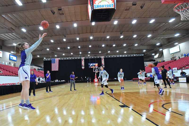 LAS VEGAS, NV - NOVEMBER 25:  during the SouthPoint Thanksgiving Shootout at SouthPoint Casino on November 25, 2017 in Las Vegas, Nevada.  (Photo by Sam Wasson for Kansas State)