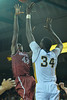 Jan 2, 2016: New Mexico State Aggies forward Pascal Siakam (43) takes a shot over UC Irvine Anteaters center Mamadou Ndiaye (34) in a game between New Mexico State and UC Irvine at the Bren Events Center in Irvine, Calif. The Anteaters defeated the Aggies 54-52.