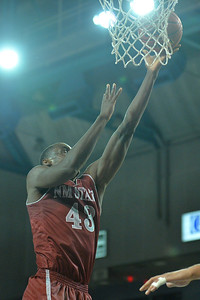 Jan 2, 2016: New Mexico State Aggies forward Pascal Siakam (43) gets a layup in a game between New Mexico State and UC Irvine at the Bren Events Center in Irvine, Calif. The Anteaters defeated the Aggies 54-52.