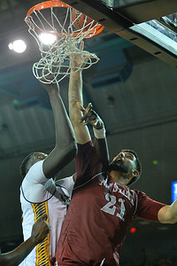Jan 2, 2016: New Mexico State Aggies center Tanveer Bhullar (21) and UC Irvine Anteaters center Mamadou Ndiaye (34) battle for a rebound in a game between New Mexico State and UC Irvine at the Bren Events Center in Irvine, Calif. The Anteaters defeated the Aggies 54-52.
