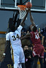 Jan 2, 2016: New Mexico State Aggies forward Pascal Siakam (43) tries to block a shot attempt from UC Irvine Anteaters center Mamadou Ndiaye (34) in a game between New Mexico State and UC Irvine at the Bren Events Center in Irvine, Calif. The Anteaters defeated the Aggies 54-52.