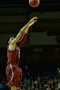 Jan 2, 2016: New Mexico State Aggies guard Matt Taylor (5) takes a jump shot in a game between New Mexico State and UC Irvine at the Bren Events Center in Irvine, Calif. The Anteaters defeated the Aggies 54-52.
