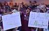 LAS VEGAS, NV - MARCH 08:  New Mexico State Aggies hold up signs during the team's quarterfinal game of the Western Athletic Conference basketball tournament against the Chicago State Cougars at the Orleans Arena in Las Vegas, Nevada. The Aggies won 97-70.