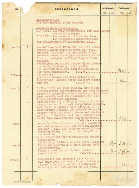 Cost Estimate, Page 1