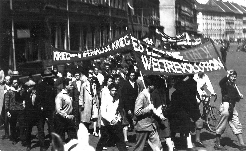 Bauhaus Students Demonstration in Dessau