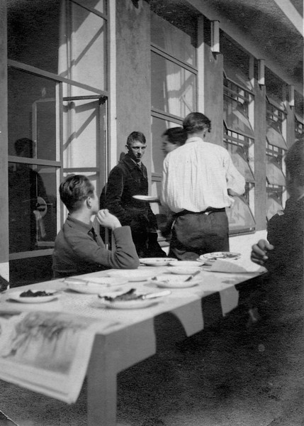 Students in the Bauhaus Cafeteria
