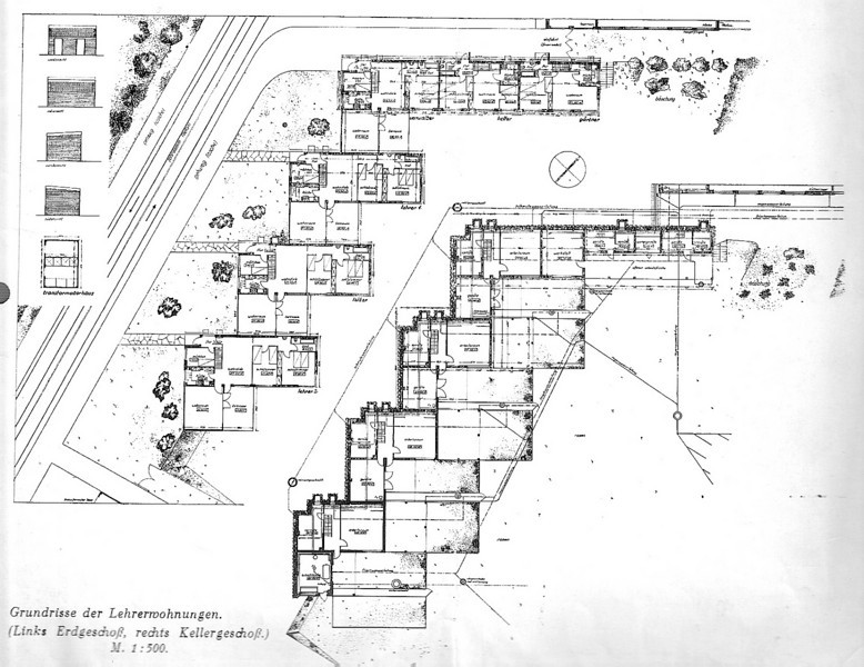 Floor Plans of the Teachers' Houses