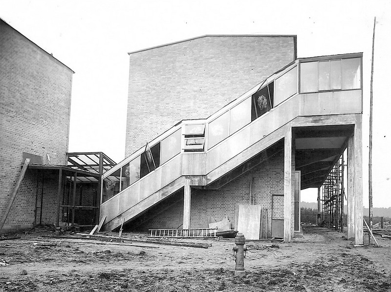 Original Building During Construction