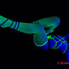 Akiva black light shibari photo shoot