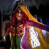Roux Lette Body Paint shot at studio5graphics in Seattle Washington. Model Roux Lette, MUA Marjani