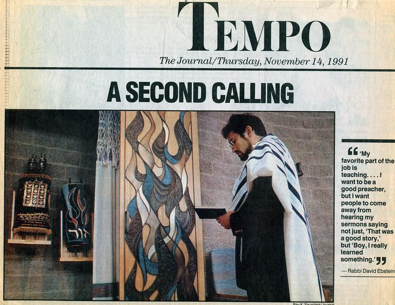 1991-11-Journal article on Rabbi Ebstein