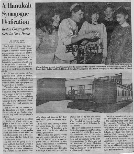 1988-12-Wash Post on bldg dedication