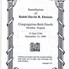 1989-09-Rabbi Ebstein installation program