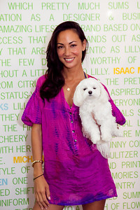 Sabrina Van Cleef with her dog Squidy