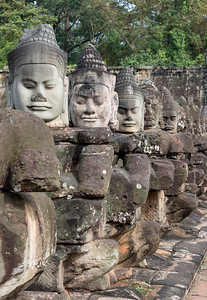 Statues of gods and demons, Angkor