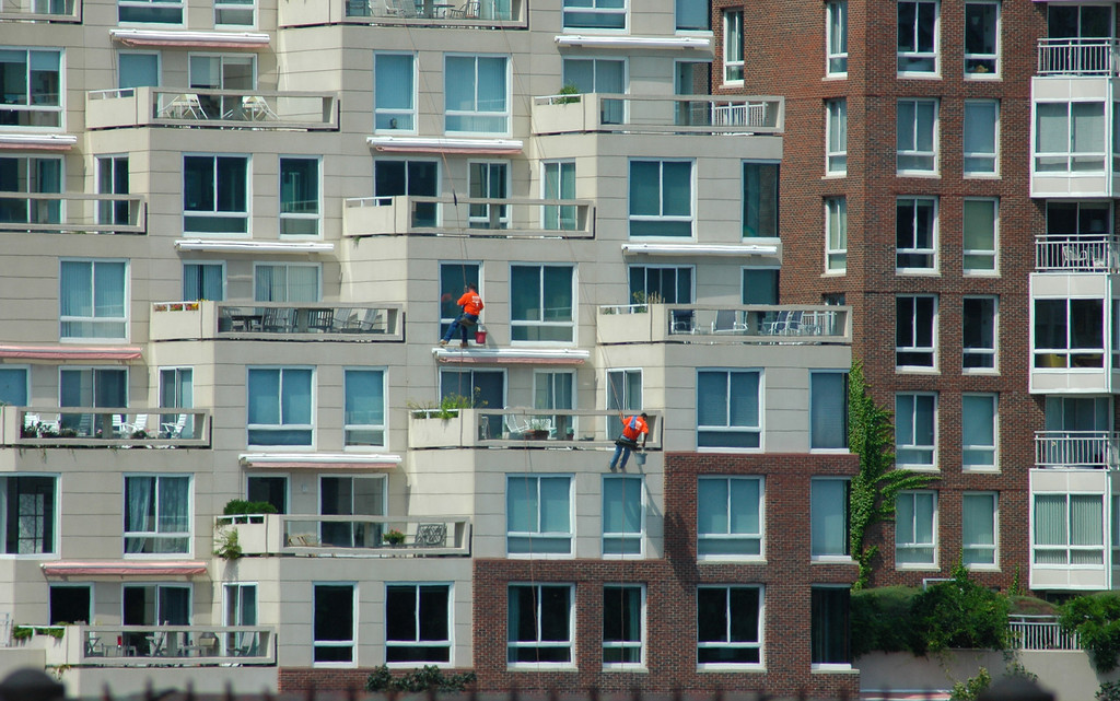 Window Washers on a Condo
