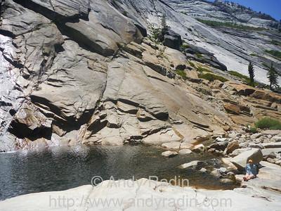 Tenaya Canyon in Yosemite National Park. Sunning.