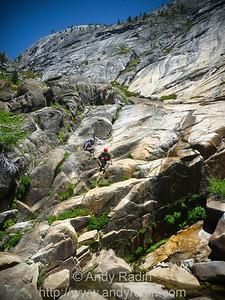 Tenaya Canyon in Yosemite National Park. More downclimbing.