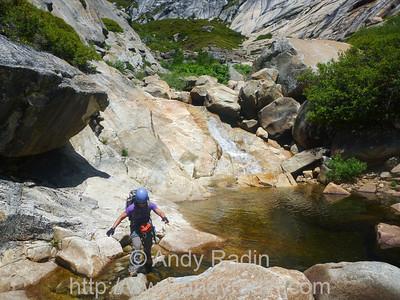 Tenaya Canyon in Yosemite National Park.