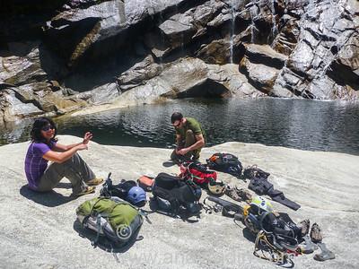 Tenaya Canyon in Yosemite National Park. Secret swimming hole!