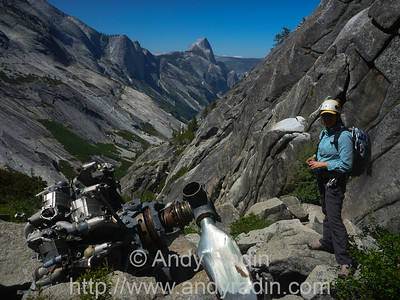 Tenaya Canyon in Yosemite National Park. Engine and Half Dome