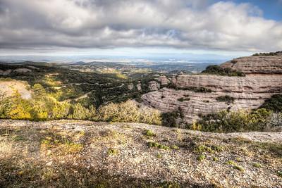 Views from Montcau's Hillside