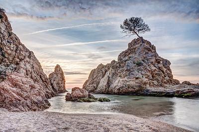Sunrise at Platja de la Mar Menuda, Tossa de Mar (Catalonia)